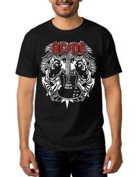 Rock t-shirt Black με στάμπα AC/DC Black Ice