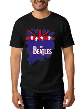 Rock t-shirt Black με στάμπα The beatles