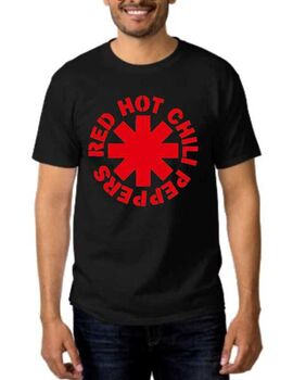 Rock t-shirt Black με στάμπα Red Hot Chili Peppers