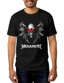 Rock t-shirt Black Megadeth Blood Of Heroes