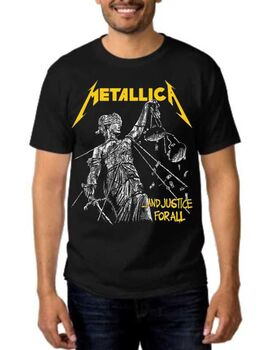 Rock Black t-shirt Metallica and Justice for All