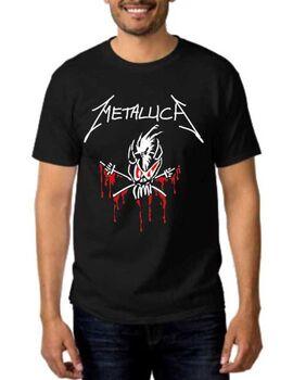 Rock Black t-shirt Metallica Scary Guy