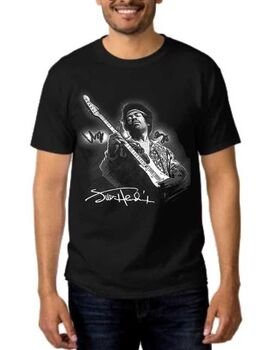 Rock t-shirt με στάμπα Jimi Hendrix Monterey Magic