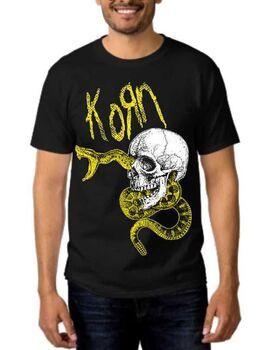Rock t-shirt Korn Snake Skull