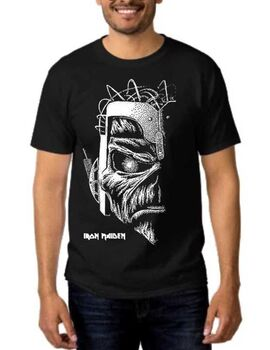 Heavy metal t-shirt με στάμπα Iron Maiden Somewhere in Time