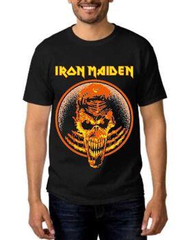 Heavy metal t-shirt με στάμπα Iron Maiden Afraid to shoot strangers