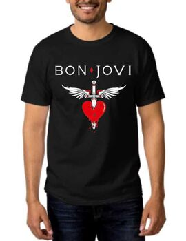 Rock t-shirt με στάμπα Bon Jovi You Give Love A Bad Name