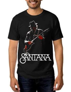Rock t-shirt Carlos Santana with guitar