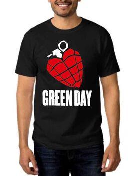 Rock t-shirt με στάμπα Green Day American Idiot