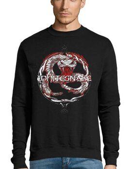 Μπλούζα Φούτερ Sweatshirt Rock με στάμπα Whitesnake Back To The Bone