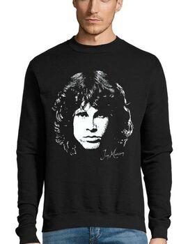 Μπλούζα Φούτερ Sweatshirt Rock με στάμπα Jim Morrison Day destroys the night, night divides the day