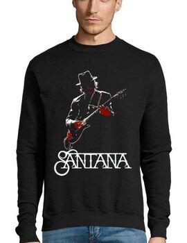 Μπλούζα Φούτερ με στάμπα Carlos Santana with guitar