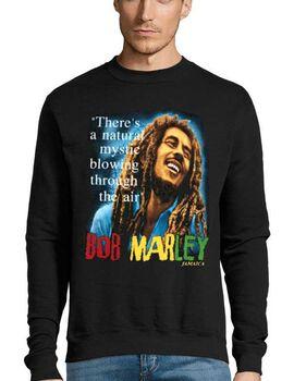 Μπλούζα Φούτερ με στάμπα Bob Marley There's a natural mystic blowing through the air