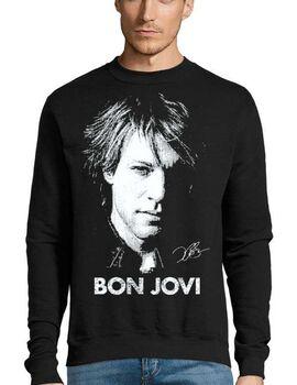 Μπλούζα Φούτερ με στάμπα Bon Jovi