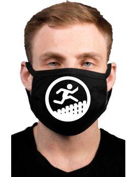 Υφασμάτινη μάσκα προσώπου Λεξ με 100% βαμβάκι , πολλαπλών χρήσεων με διπλό ύφασμα σε μαύρο χρώμα.