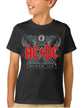 Παιδικό μπλουζάκι με στάμπα AC/DC Black Ice