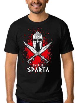 Μπλουζάκι με στάμπα This is Sparta