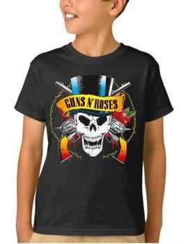 Παιδικό μπλουζάκι με στάμπα Guns N Roses Skull License