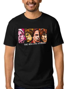 Rock t-shirt με στάμπα The Rolling Stones Mick Jagger, Keith Richards,Charlie Watts, Brian Jones