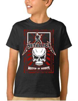 Παιδικό μπλουζάκι με στάμπα Metallica Master of Puppets