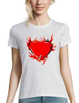 Μπλούζα t-shirt Fire Heart