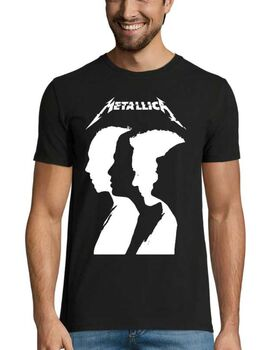 Heavy metal t-shirt με στάμπα Metallica Band Silhouette
