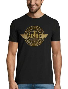 Rock t-shirt με στάμπα AC/DC - Rock & Roll Will Never Die