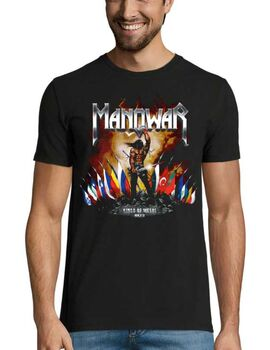 Heavy metal t-shirt με στάμπα Manowar Kings of Metal MMXIV