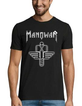 Heavy metal t-shirt με στάμπα Manowar Sign Of The Hammer