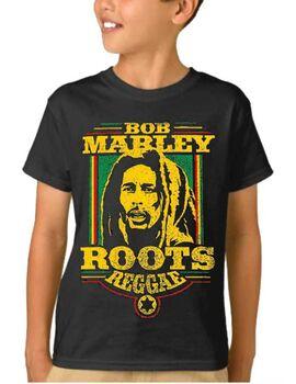 Παιδικό μπλουζάκι με στάμπα συγκροτήματος Bob Marley