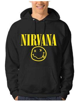 Μπλούζα Φούτερ με κουκούλα Nirvana Smiley Face