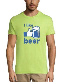 Xιουμοριστικό αστείο μπλουζάκι I Like Beer