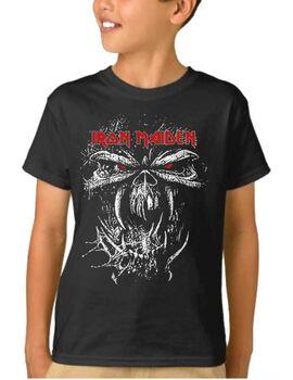 Παιδικό μπλουζάκι με στάμπα Iron Maiden Final Frontier Eddie