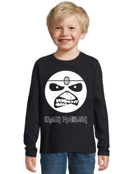Παιδικό μπλουζάκι με στάμπα Iron Maiden Eddie Smile