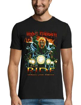 Heavy metal t-shirt με στάμπα Iron Maiden Nobody Lives Forever