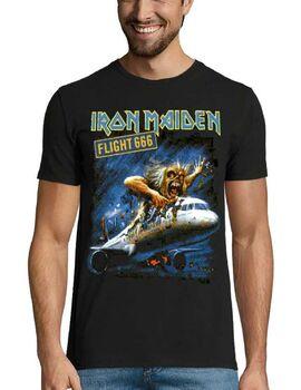 Heavy metal t-shirt με στάμπα Iron Maiden Flight 666