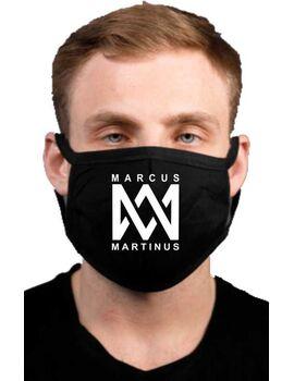 Υφασμάτινη μάσκα προσώπου Marcus & Martinus με 100% βαμβάκι , πολλαπλών χρήσεων με διπλό ύφασμα σε μαύρο χρώμα.