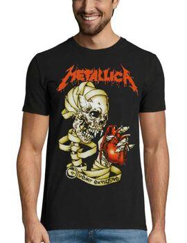 Heavy metal t-shirt με στάμπα Metallica Heart Explosive