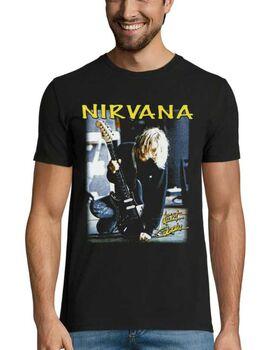 Rock t-shirt με στάμπα Nirvana Kurt Cobain
