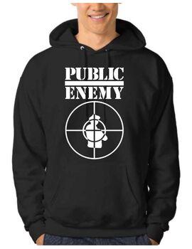 Μπλούζα Φούτερ με στάμπα Public Enemy