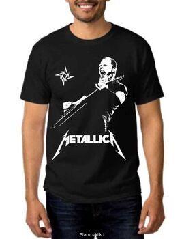 Rock Black t-shirt Metallica James Hetfield Hot Price