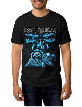 Heavy metal t-shirt με στάμπα Iron Maiden Men Final Frontier Blue Album Spaceman