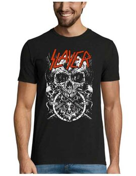 Heavy metal t-shirt με στάμπα Slayer Skulltagram