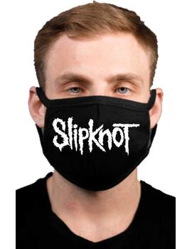 Υφασμάτινη μάσκα προσώπου Slipknot με 100% βαμβάκι , πολλαπλών χρήσεων με διπλό ύφασμα σε μαύρο χρώμα.