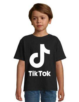 Μπλουζάκι με στάμπα Tik Tok