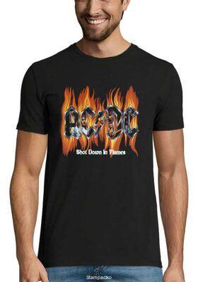 Rock t-shirt με στάμπα AC/DC Shot Down in Flames
