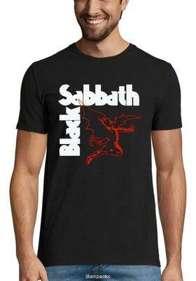 Heavy metal t-shirt με στάμπα Black Sabbath Flying Devil