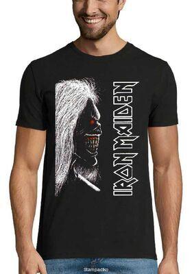 Heavy metal t-shirt με στάμπα Iron Maiden Eddie The Head
