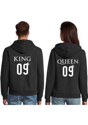Μπλούζες φούτερ με κουκούλα Hoodies King and Queen Custom