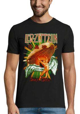 Rock t-shirt με στάμπα Led Zeppelin Swan Song
